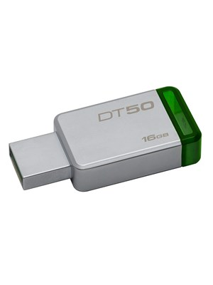 KINGSTON 16 GB USB 3.1\3.0\2.0 METAL FLASH BELLEK DT50