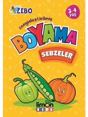 Limon Kids Yayinlari Zenginlestirilmis Boyama Sebzeler