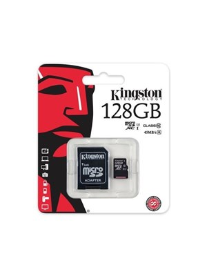 KINGSTON 128 GB MICRO SD HAFIZA KARTI CLASS 10 SDC10G2