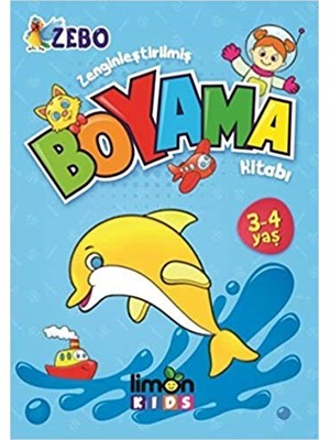 Limon Kids Yayinlari Zenginlestirilmis Boyama Kitabi 3 4 Yas